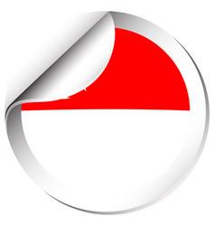 Singapore flag in sticker design vector
