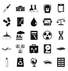Experiment icons set simple style vector