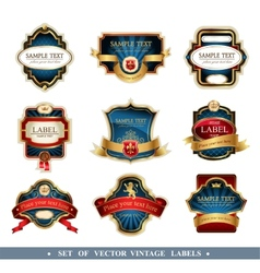 Frames and ornamental labels vector
