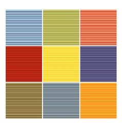 Seamless striped tube pattern collection in differ vector