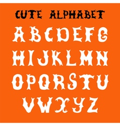 Hand drawn font sketch style alphabet vector