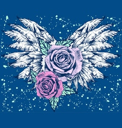 Roses with wings vector