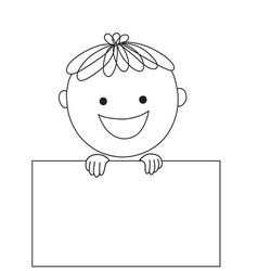 Boy and rectangle vector