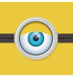 Cartoon one eye glasses or goggles eye vector image