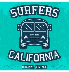 Vintage surfing poster vector