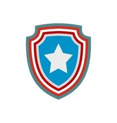 American badge icon vector