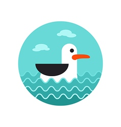 Seagull icon summer vacation vector