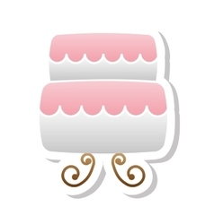 Wedding cake icon vector