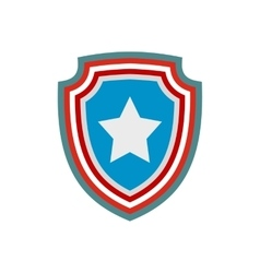American badge icon vector