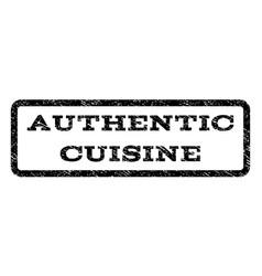 Authentic cuisine watermark stamp vector