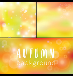 background autumn golden bokeh as background vector image