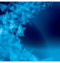 blue abstract background with scattered shapes vector image vector image