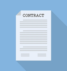 Contract document paper vector image