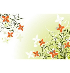 floral grunge backgrounds vector image vector image