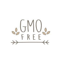 Gmo free product label vector