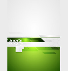 Green grey tech contrast background vector image