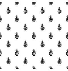 Hand grenade pattern simple style vector image