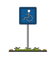 Handicap parking sign icon imag vector