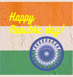 Indian art flag indi republic day freedom vector
