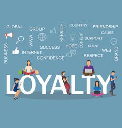 Loyalty concept idea of customers vector