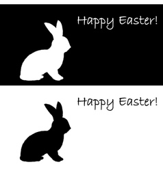 Monochrome silhouette of an Easter bunny vector image vector image