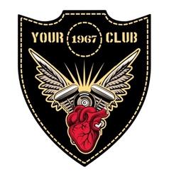 Motor club emblem vector