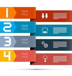 One two three four paper progress steps for vector