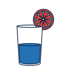 Orange juice in a glass organic tropical fruit vector