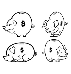 piggy bank s one color vector image