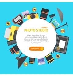 Professional photo studio banner card vector