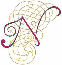 script letter n vector image