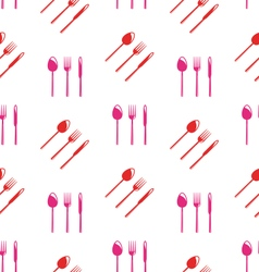 Seamless Texture of Colorful Cutlery vector image