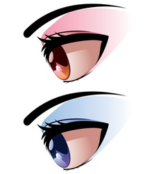 Side view of eye vector