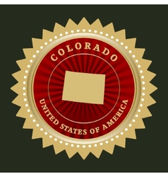 Star label colorado vector