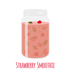 strawberry smoothie vegetarian organic detox drink vector image vector image