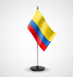 Table flag of colombia vector
