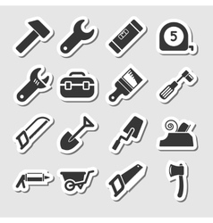 Tools Icons as Labels vector image