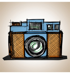 Toy camera vector image