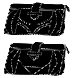 Wallets silhouette vector image vector image