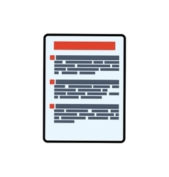 Paper piece document information icon vector