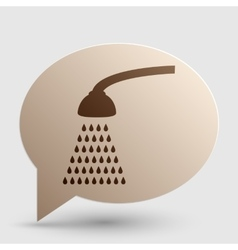 Shower simple sign brown gradient icon on bubble vector