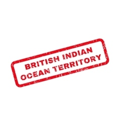 British indian ocean territory rubber stamp vector