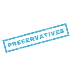 Preservatives rubber stamp vector