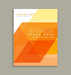 Orange business magazine brochure template vector