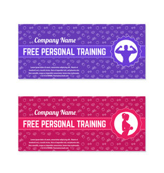 Free personal training gift voucher for gym vector