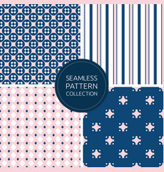 Fashion seamless pattern collection vector