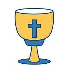 Catholic cross chalice vector