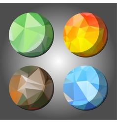 Four season abstract polygon rounds vector