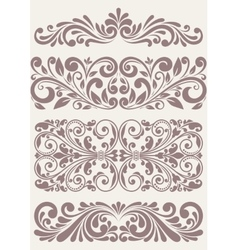 Set vintage ornate borders vector