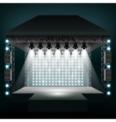 Concert stage with spotlights vector